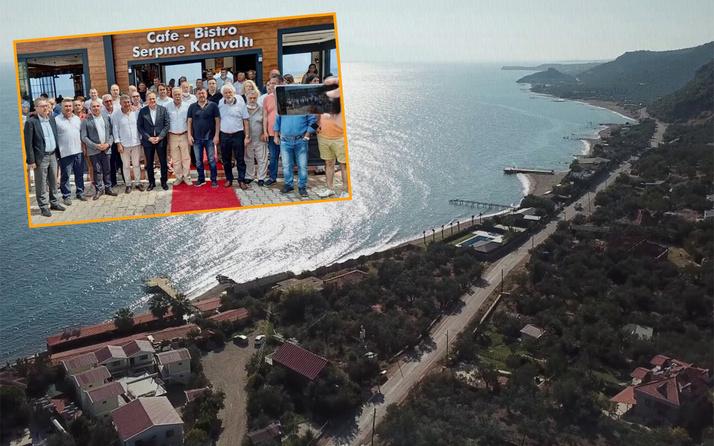 Halk TV'nin sahibi Mahiroğlu'nun Çanakkale Assos'taki kaçak iş yeri açılışına CHP tam kadro katıldı