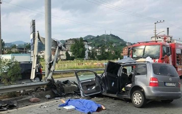 Almanya'dan Rize'ye tatile gelen gurbetçiler Of'ta kaza yaptı: 2 ölü, 4 yaralı