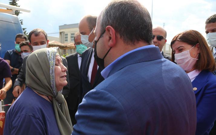 Bakan Varank'ı karşısında görünce 'Erdoğan'ı çok seviyorum' diyerek ağladı