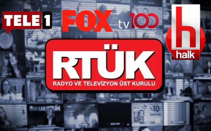 RTÜK o sözleri affetmedi! Halk TV Fox Tele 1 TV100'e ceza yağdı