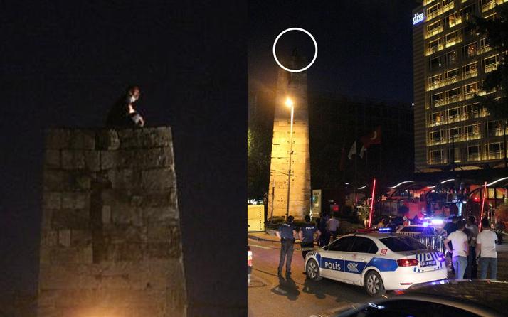 Tarihi su sarnıcına çıktı! İstanbul Şişli'de trafiği kilitleyen intihar girişimi
