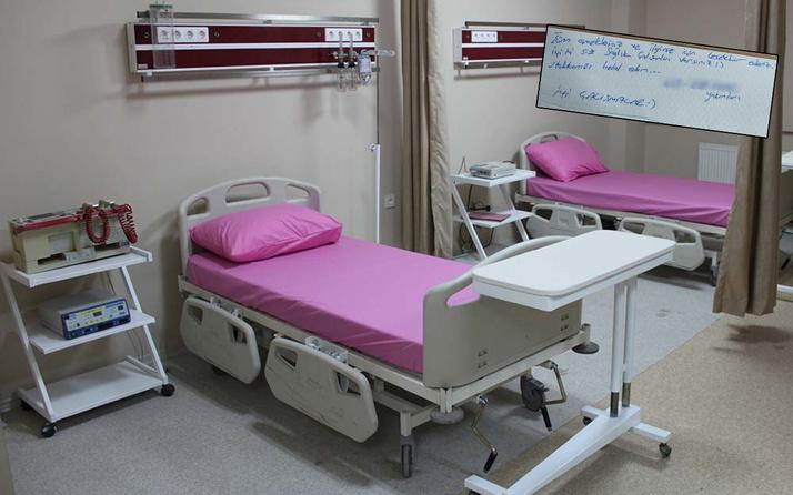 Tekirdağ'da hastaneden taburcu olan kadının bıraktığı notu gören şaştı kaldı
