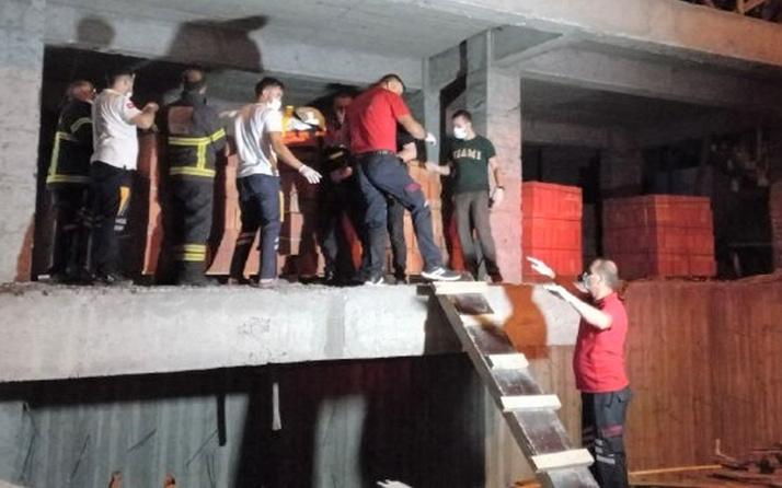 Erzincan'da inşaattaki bekçi korkunç şekilde can verdi! Gören arkadaşları şok oldu