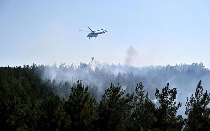 Mersin'de orman yangını! Evler boşaltıldı
