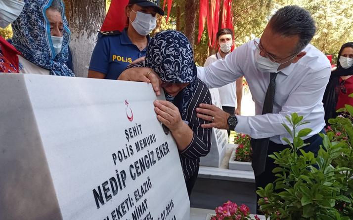Aydın'da gözyaşları sel oldu! 15 Temmuz şehidinin annesinin ağıtları yürekleri dağladı