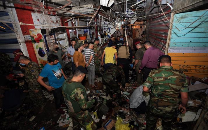 Irak'ın başkenti Bağdat'taki halk pazarında patlama 22 ölü