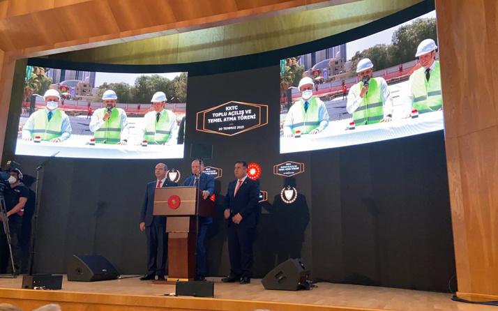 Cumhurbaşkanı Erdoğan KKTC'de temel atma töreninde konuştu