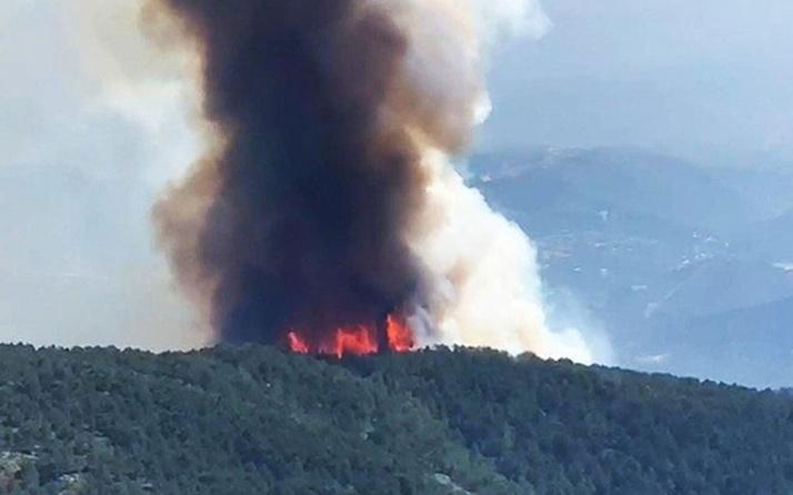 Hatay'da orman yangını ekipler müdahale ediyor