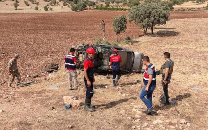 Mardin'de kahreden kaza! Otomobil takla attı 2 asker hayatını kaybetti