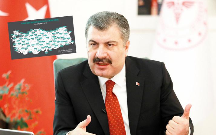 Türkiye'de illere göre Covid-19 vaka sayısı! Bakan Fahrettin Koca 10- 16 Temmuz tablosunu paylaştı