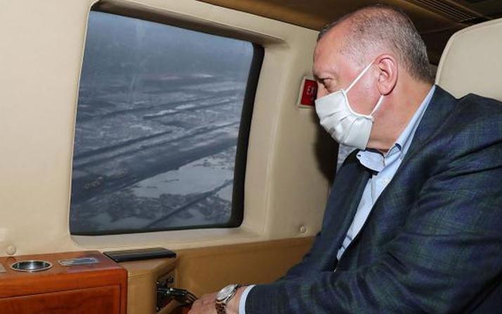 Erdoğan, Rize-Artvin Havalimanı'nı havadan inceledi