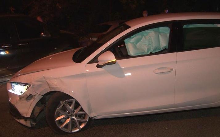 Kağıthane'de alkollü sürücü park halindeki 5 otomobile çarptı