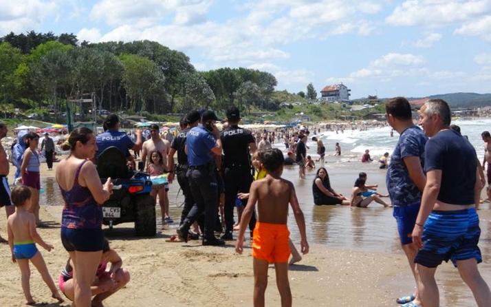 Şile'de denize girme yasağına rağmen plajlar doldu taştı