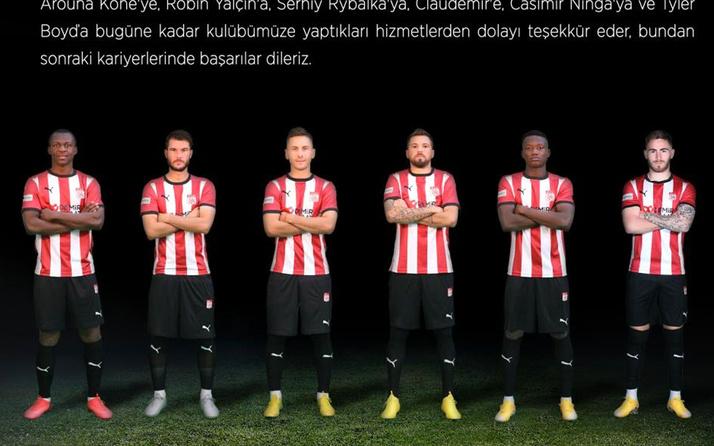 Sivasspor 6 futbolcusuna teşekkür etti