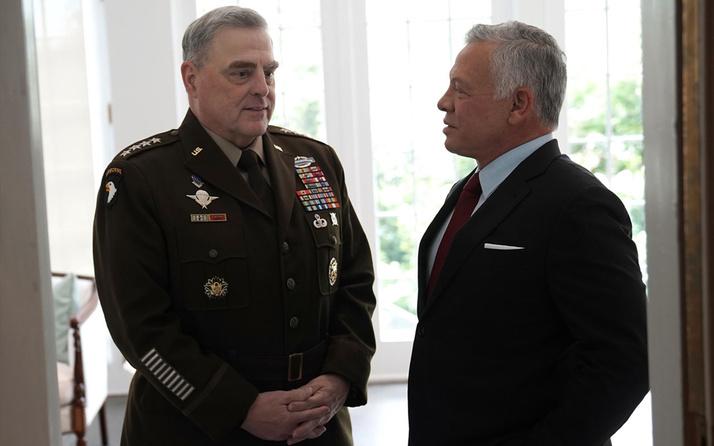 Ürdün Kralı 2. Abdullah ABD Genelkurmay Başkanı ile savunma ve güvenlik iş birliğini ele aldı