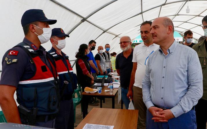 İçişleri Bakanı Süleyman Soylu Artvin'in Arhavi ilçesinde incelemelerde bulundu