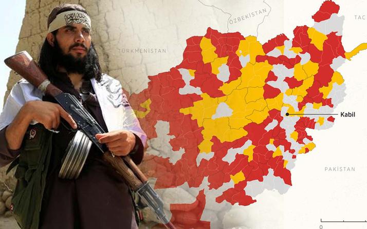 Taliban Afganistan'ı ele geçirmek üzere! Haritadaki ürküten gerçek