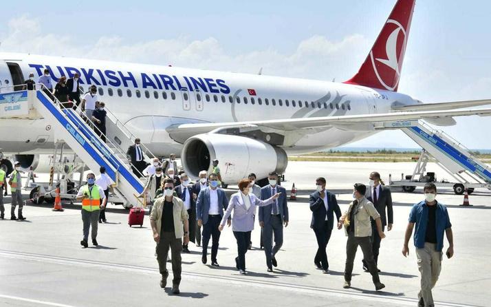 Eleştirdiği halde özel uçak kullanan Meral Akşener bu defa tarifeli uçağa bindi