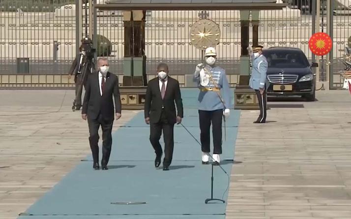 Cumhurbaşkanı Erdoğan Angola Cumhurbaşkanı Gonçalves'i karşıladı