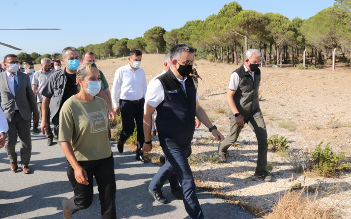 Antalya Manavgat'taki yangında son durumu Bakan Pakdemirli açıkladı