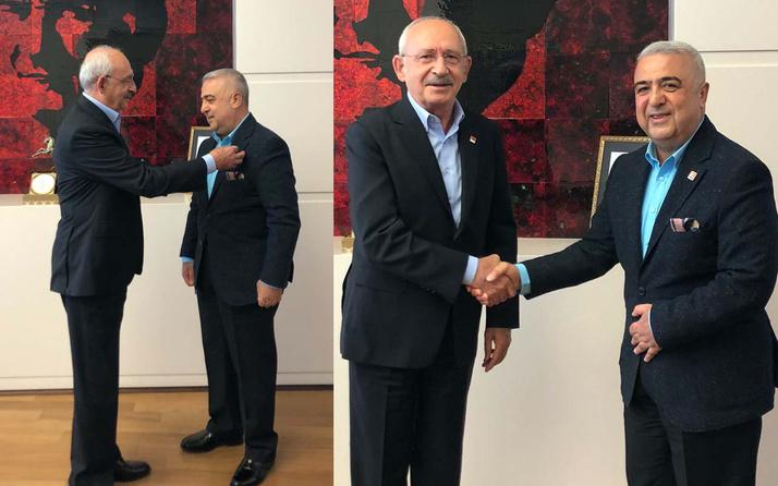 AK Parti eski milletvekili Rüstem Zeydan CHP'ye katıldı rozetini Kemal Kılıçdaroğlu taktı