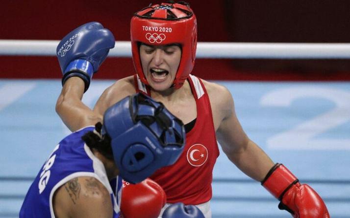 Milli boksör Esra Yıldız Tokyo Olimpiyatlarında adını çeyrek finale yazdırdı