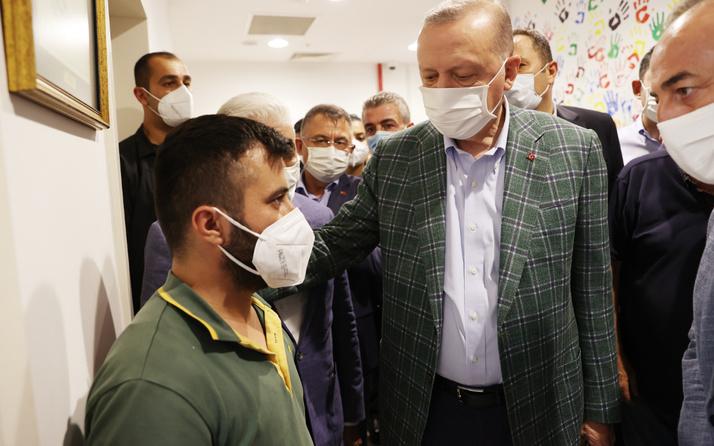 Anne babasını kurtarmaya yetişememişti Cumhurbaşkanı Erdoğan taziyede bulundu