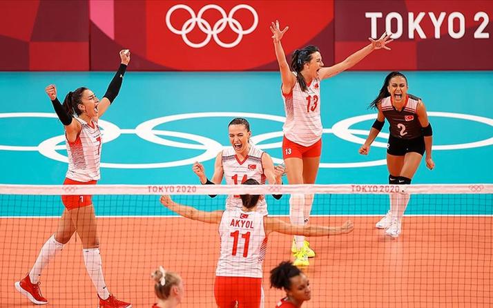 A Milli Kadın Voleybol Takımı Arjantin'i yenip çeyrek finale yükseldi