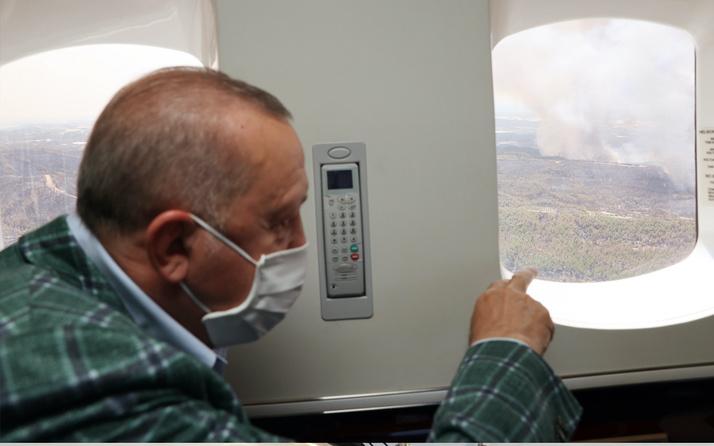 Cumhurbaşkanı Erdoğan yangın bölgelerine gitti! Programlar iptal