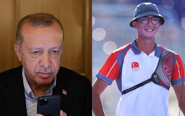 Cumhurbaşkanı Erdoğan'dan Mete Gazoz'a tebrik: Tarihi ayağa kaldırdın