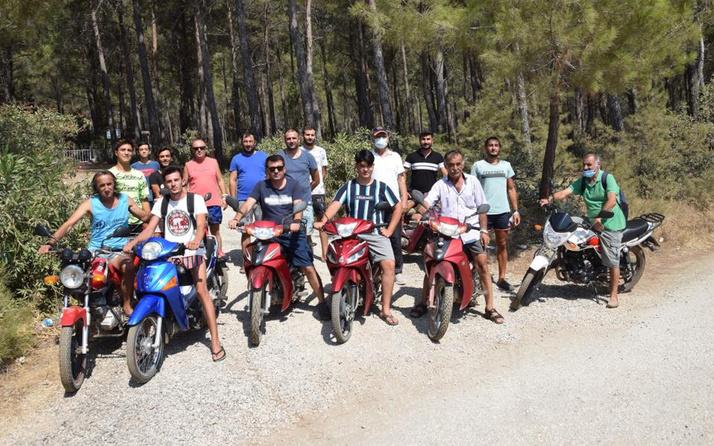 Antalya Kumluca'da 80 genç bir oldu! Paraşüt ve paramotorlarla ormanları koruyorlar