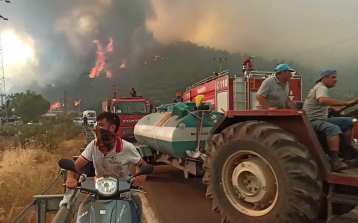 Muğla Marmaris'in Hisarönü Mahallesi'nde tahliye çalışmaları başlatıldı
