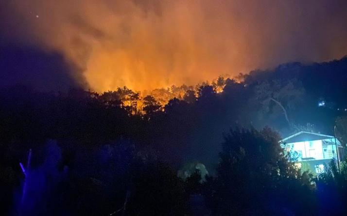 Muğla Seydikemer'de tekrar başlayan yangın kontrol altına alındı