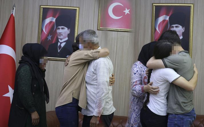 Mardin'de polisin ikna çalışması sonucu teslim olan 2 kadın terörist aileleriyle buluşturuldu