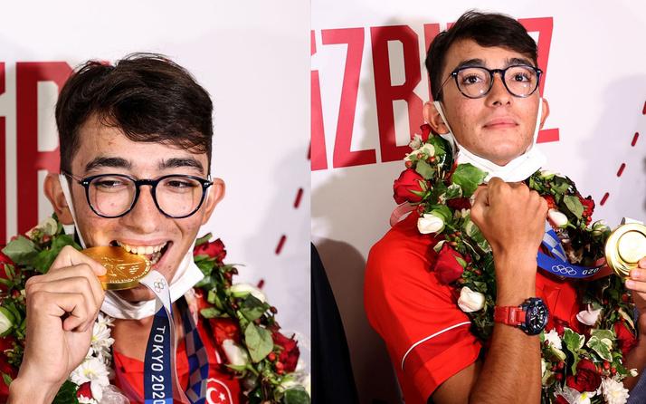 Olimpiyat Şampiyonu Mete Gazoz yurda döndü