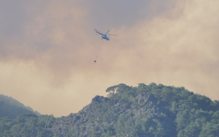 Yangın söndürme helikopterinin düştüğü haberlerine yalanlama