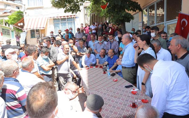 Süleyman Soylu Muğla'da yangından etkilenen vatandaşları ziyaret etti: Gece gündüz buradayız