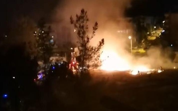 Denizli'de askeri kışlada yangın çıkardı! Askerler yakaladı!