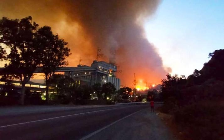 Milas termik santrali yanıyor! Prof açıkladı : Zehirli gazlar saçıyor