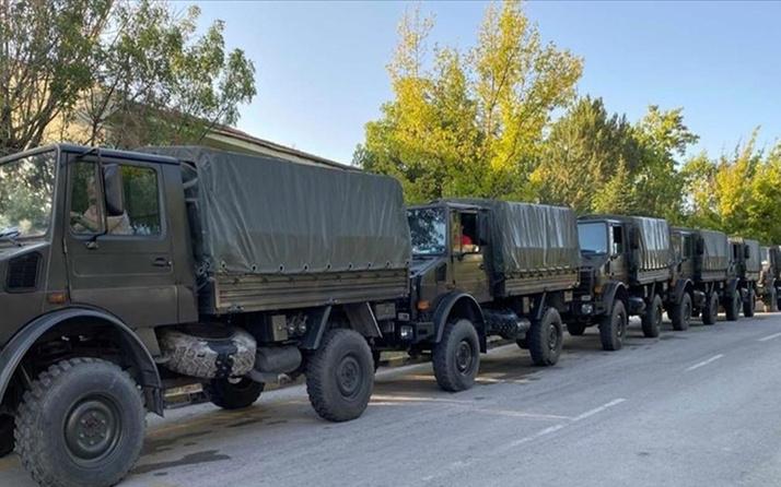 Türk Silahlı Kuvvetlerinden yangın söndürme faaliyetlerine destek