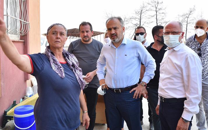 Bursa Büyükşehir Belediyesi; Yangının yaralarını hep birlikte saracağız