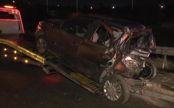 TEM'de minibüs ile otomobilin çarpıştığı kazada 3'ü ağır 7 yaralı