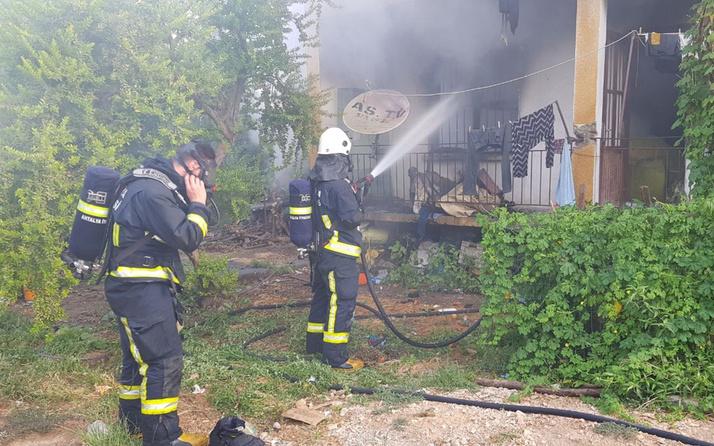 Antalya Alanya'da 4 yaşındaki çocuk ailesini yangından kurtardı