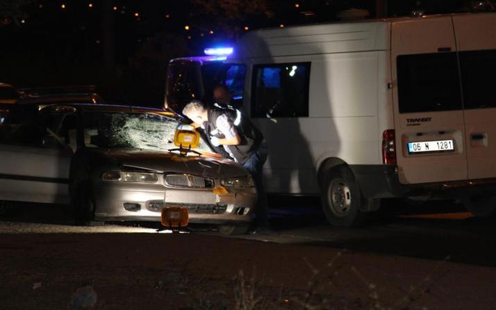Ankara'da yaşandı! Sol şeritte zorla indirilen kadına arkadan gelen araç çarptı
