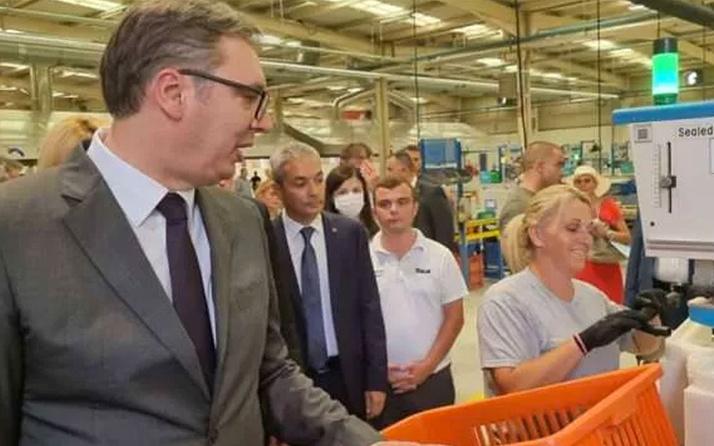Sırbistan Cumhurbaşkanı Vucic, Türk firması Teklas'ı fabrikasını ziyaret etti