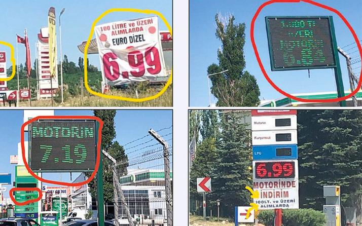 Akaryakıt istasyonlarında yeni oyuna dikkat! Tabelada 6.84 lira, pompada 7.36 lira