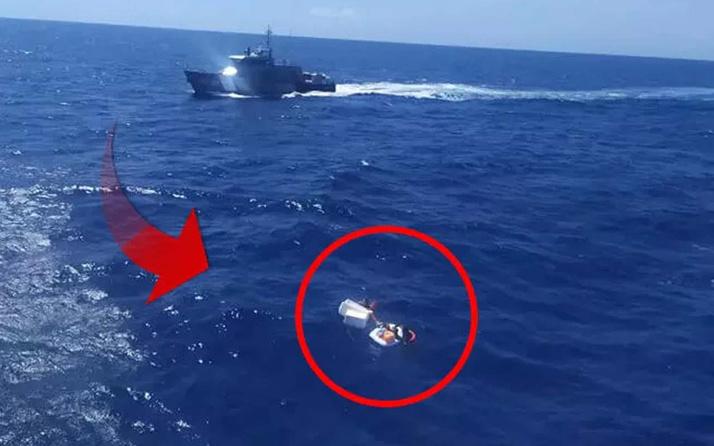 Gemi kazası sonrası denizin ortasında can savaşı! Anne iki çocuğunu emzirip kurtardı ama...