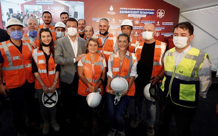 Ümraniye-Ataşehir-Göztepe Metro Hattı'nda tünel delme makinesi geçiş töreni
