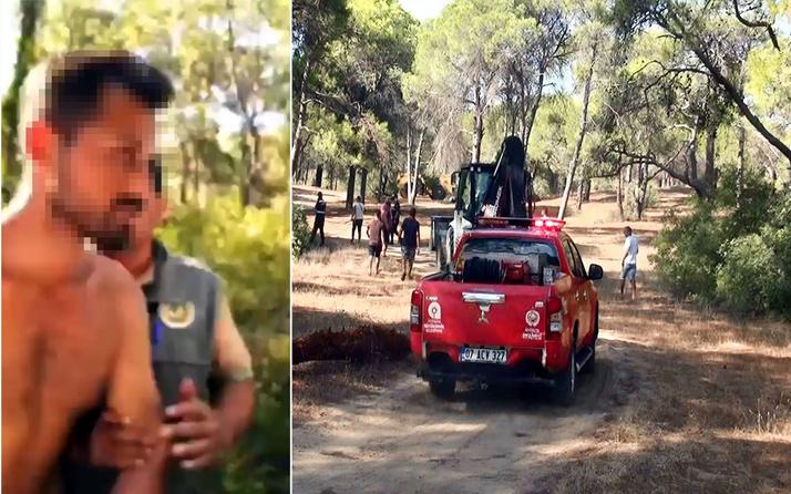 Manavgat'ta ormanı yakmaya çalışırken yakalandı