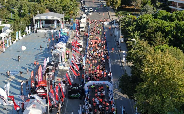 'Şiddete Karşı Koş' diyen 2 bin 500 sporcu İstanbul'da ter döktü
